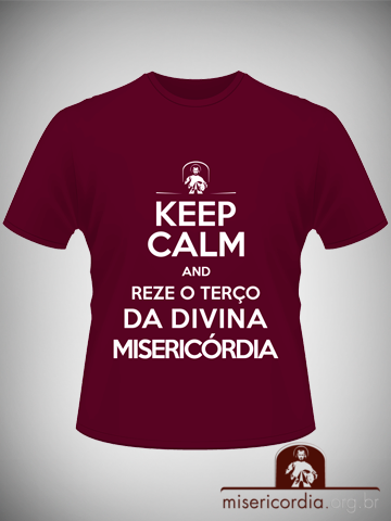 Camiseta-Keep-Calm-Bordo