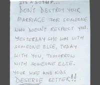 Bilhete salva casamento do adultério a 10.000 m. de altitude
