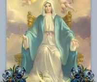 Maria foi por Deus coroada rainha do céu e da terra