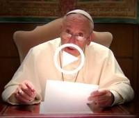 """Lançam """"vídeo do Papa"""" com suas intenções de oração"""