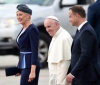 Papa Francisco chega a Cracóvia