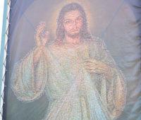 Santuário da Divina Misericórdia expõe painel com imagem de Jesus Misericordioso