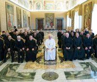 Papa Francisco em audiência com os Padres Marianos da Imaculada Conceição