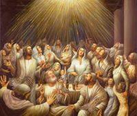 Ficaram todos cheios do Espírito Santo