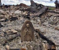 Imagem da Virgem de Guadalupe se salva de incêndio durante passagem do furacão Harvey