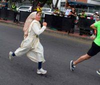 Irmã Colombiana participa de maratona e ganha destaque