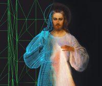 Imagem de Jesus Misericordioso em 3D à espera do Papa em Vilnius