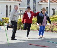 Profissionais de Educação Física promovem ginástica e movimentam o Santuário