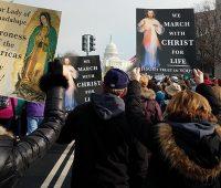 Nos EUA Marcha pela Vida conta com imagens de Jesus Misericordioso