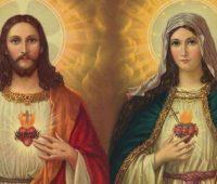 Os corações de Jesus e Maria estão entrelaçados