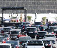 Missa Drive-In acontece neste domingo no Santuário