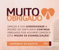 Campanha dos Devotos alcança 97% da meta em Agosto