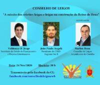 Live discute o papel dos leigos na construção do Reino de Deus