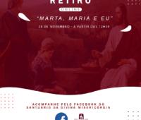 """""""Marta, Maria e eu"""" é o tema do retiro online que acontece neste sábado (29)"""